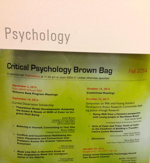 Hannah Jaicks_To Montana With Love_Psychology Brown Bag Schedule
