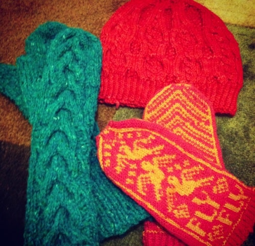 hannah jaicks creative pursuits mittens hat knitting projects